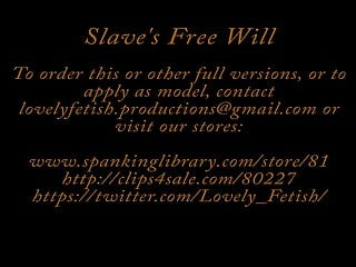 Sex swingers free clip Clip 10lil slaves free will - face - 26:34min, sale: 11
