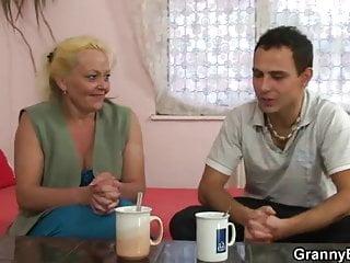 7th grader gets pussy slammed - Blonde granny gets her hairy pussy slammed