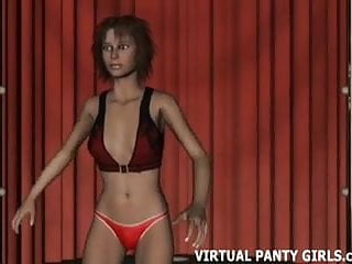 Cartoon strips propaganda - Watch your 3d virtual girl dancing in a sleazy strip club