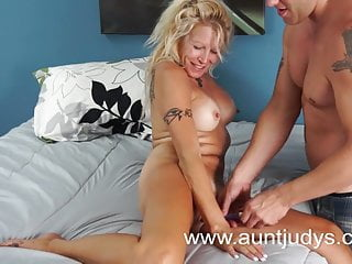 Tranny lover tgp - Mature blonde and her young lover enjoy their fuck