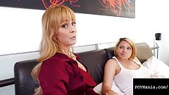 Step Mommy Cherie Deville & Alix Lovell Suck & Fuck A Dick!