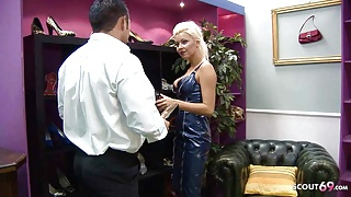 NYMPHOMANIAC MILF IN LATEX SEDUCES SELLER TO FUCK IN STORE