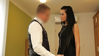 VIP4K. Hottie is ready for dirty sex to pay taxes for a pic