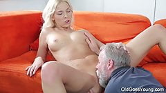 Old Goes Young - Sweet blonde comes to her old teacher