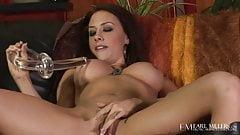 Hot Busty Brunette Chanel Preston Rubs Her Wet Meaty Pussy!