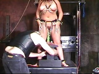 Fetish dungeon tricks Horny princess fucks a dildo in dungeon