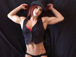 Hot muscle chicks nude flexing Dancer flexing ripped muscles