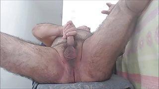 Daddy plays on cum...