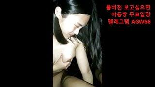 Korean girl has sex in car