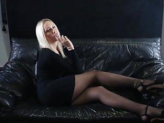 Pantyhose stockings models Smoking model pantyhose legs