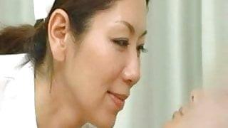 Japanese Nurse Sneaky Handjob
