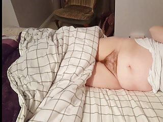 Video camera in side vagina Her hairy pussy laying on her side