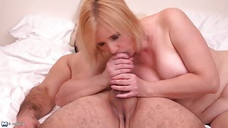 Naughty mother suck and fuck big fat cock