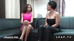 Casting amateur d une petite black aux petits seins