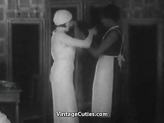 Teen lifestyle in the 1920s Ballerina and her maid threesomes ffm 1920s 1920s vintage