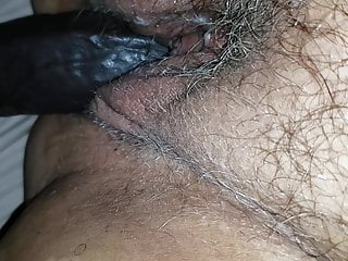 Hairy vagine Dacaptainandmimosa in creamy double vaginal penetration pov