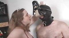 Shoe Slave covert whit high heels