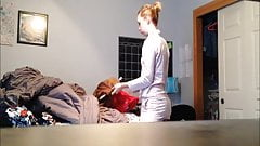 Spy and Voyeur on Tight Teen getting ready for the day