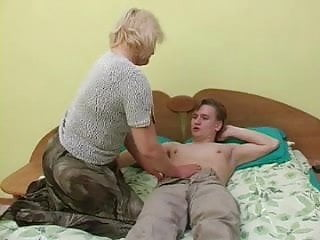 Chubby mature man - Chubby mature blonde fucks with young man
