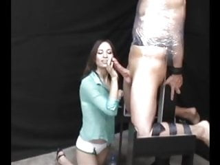Incredible footjobs Incredible femdom handjob double cum