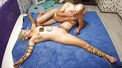 Bondage Stepdaughter Slave BDSM Fetish And Hard Fuck with Smoke