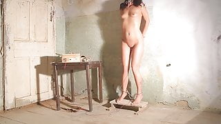 Tortured with electricity - pussy torture