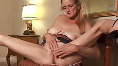 Skanky old spunker fucks her soaking wet pussy