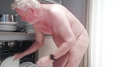 Dad at the dishes