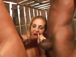 Blowjobs on huge dicks - Hot mom fucks two huge dicks