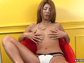 Free young flat chested porn video - Flat chested asian toys her bushy slit for the camera