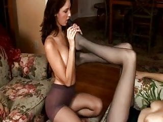 Erotic neck fetish - Erotic lesbian pantyhose foot worship