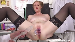 Hot GILF Angelina Gyno Exam