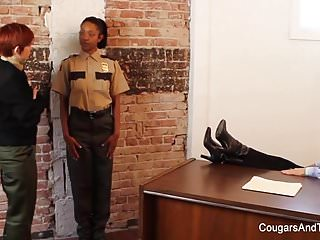 Photos of sexy women cops - Sexy ebony cop fucks her two coworkers