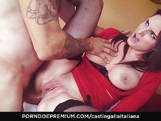 Butt fucked babe Casting alla italiana - ebony brunette babe gets butt fucked