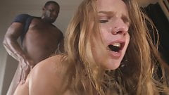 Sofi Goldfinger gets massive facial after her ass is BBCed