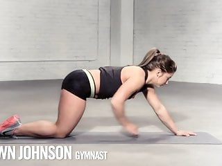 Shawn and matsuflex naked Shawn johnson yoga stretching