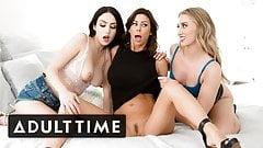 Hot Lesbian Girlfriends Double-Team MILF Stepmom Alexis Fawx