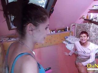 Lesbian teen and mom Oldnanny mature henrietta and lesbian teen fun