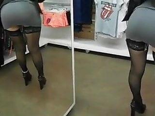 Blond shopping slut load Slut do shopping dress as whore
