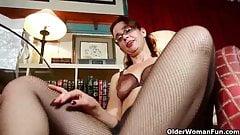 Mom's new pantyhose send her into a masturbation frenzy