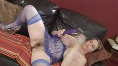 Big tits hottie using her toys