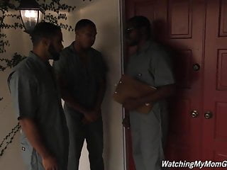 Several loads on tits - Busty mother sara jay fucked by several black not her sons