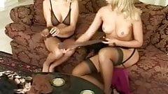 Nylon Lesbian Couples Part 2