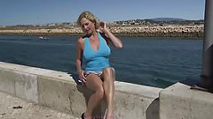 MOLLY MILF- A LITTLE BIT OF FLASHING - FUN IN THE SUN 2016