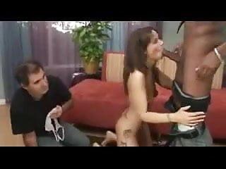 Bondage impaler pole Leashed cuck watches his wife impaled on bbc.