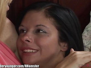 Young natural lesbian Lesbianolderyounger natural milf plays with young pussy