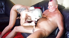 LETSDOEIT - Tattooed Blonde and Partner First Time On Cam