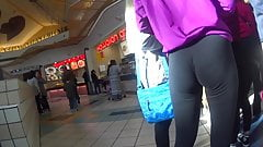 2 Teens In Leggings With Wedgies