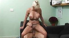 Cum inside blonde milf after hot sex