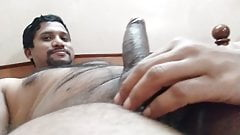 Desi Indian wife playing with husband penis dick